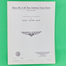 1933 Art Publication Society Teacher's Library Sheet Music, Louis Victor... - $2.95
