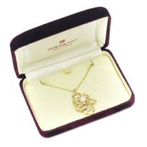 MIKIMOTO Authentic K14YG Pearl Necklace about 44cm Used Japan - $791.95