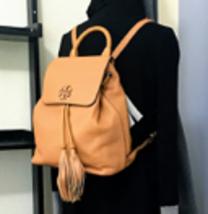 New Tory Burch Taylor Backpack Leather Brown Handbag - $338.00