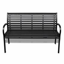 vidaXL Garden Bench Steel Porch Patio Park Path Chair Outdoor Deck Seating image 2