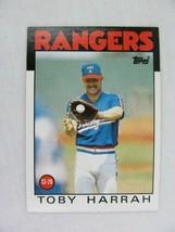 Toby Harrah Texas Rangers 1986 Topps Baseball Card Number 535 - $0.98