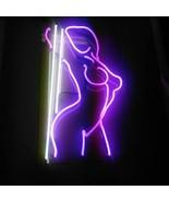 New Sexy Girl Stripper Pole Dance Gift Artwork Acrylic Neon Light Sign 1... - $60.00