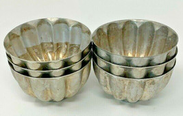 Jello Molds Lot 6 VTG Aluminum Mini Cake JELL-O (#19-2301) - $10.44