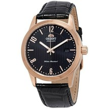 Orient FAC05005B0 Howard Men Black Leather Band With Black Analog Dial W... - $116.83