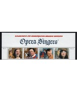 1997 32c Opera Singers, Top Strip of 4 Scott 3154-57 Mint F/VF NH - $2.38
