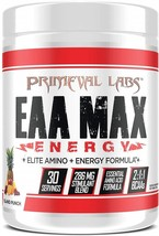 Primeval Labs EAA Max Energy, Muscle Energy & Nutrient Island Punch, 30 ... - $102.89