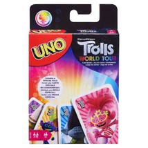 UNO Dreamworks Trolls World Tour Card Game With 112 Cards For 7 Year Old... - $18.92
