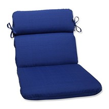 Pillow Perfect Outdoor/Indoor Rounded Chair Cushion, 40.5 in. x 21 in, F... - £21.89 GBP