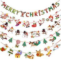 Christmas Decoration Flag Banner New Year Party Bunting Flags Garlands S... - $3.07+