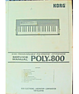 Korg Poly 800 Synthesizer Original Service Manual Booklet, Made in Japan... - $29.69