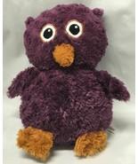 "Oomfy Kingston Owl 11"" Plush Purple Brown Soft Stuffed Animal Baby Lovey - $9.85"