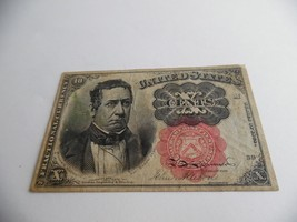 1874 U.S. FRACTIONAL 10 CENTS CURRENCY - EXTRA FINE GRADE - $37.25