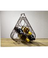 Vintage Six-Bottle Triangle Wine Rack  - $37.50