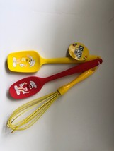M&M's World Characters Baking Spoon and Whisk Set New with Tags - $27.26