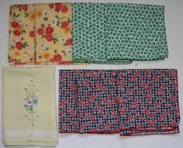 Lot 8 pcs Table Napkins Linen Cotton Watermelon Shamrocks Floral - $20.96