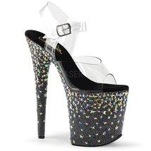 Pleaser Women's Starsplash 808 Platform Heels, Black Synthetic, 6 M - $112.81