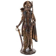 Rama Ramacandra Hindu God Figurine Indian Deity Collectible 10.25 Inch - ₨1,947.16 INR