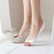 Women Cotton Peep Toe Shoes Socks Invisible Low Cut Sock - $8.00