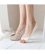 Women Cotton Peep Toe Shoes Socks Invisible Low Cut Sock - $8.00