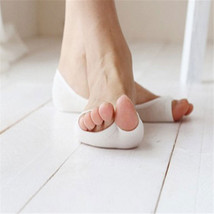 Women Cotton Peep Toe Shoes Socks Invisible Low Cut Sock image 2