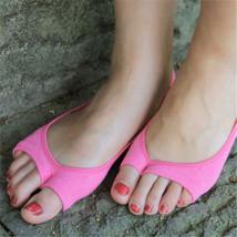 Women Cotton Peep Toe Shoes Socks Invisible Low Cut Sock image 6