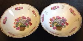 Two Vintage Porcelain Vegetable Or Serving Bowl... - $7.70