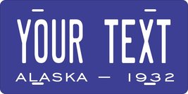 Alaska 1932 Personalized Tag Vehicle Car Auto License Plate - $16.75