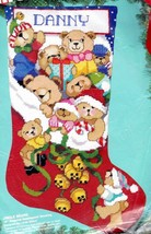 Bucilla Jingle Bears Christmas Holiday Teddy Needlepoint Stocking Kit 60706 - $142.95