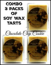 Combo - 3 packs of Chocolate Chip Cookies -3.2 Ounce Wax Tarts - Scent B... - £6.98 GBP