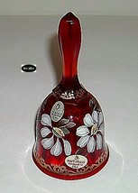 Fenton 1999 Ruby Gilded Daisy Hp Bell Retired 1052/2500 image 1