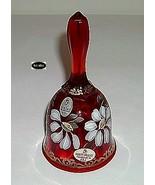 Fenton 1999 Ruby Gilded Daisy Hp Bell Retired 1052/2500 - $29.95