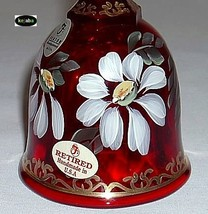 Fenton 1999 Ruby Gilded Daisy Hp Bell Retired 1052/2500 image 2