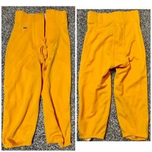 Men's Football Pants Gold S M XL 3XL Game NEW Slotted Alleson Athletics ... - $8.75