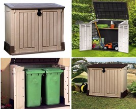 Outdoor Horizontal Storage Shed Container Garden Backyard Utility Tool S... - $189.00