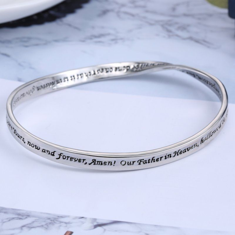 BRACELET WITH COMPLETE LORD'S PRAYER ENGRAVED