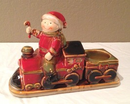 Retired Yankee Candle Train Tea Light with Boy - $14.00