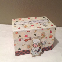 Barbara Olsen  Recipe Box Attached Matching Clip for Notes Its Worth The... - $14.99