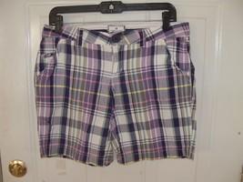 American Eagle Plaid Multi Color Board Shorts Size 6 Women's EUC - $24.30