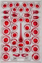 "39 pcs. Glass Reflector Christmas Balls Set in ""Highgloss Vintage Red"" - $89.99"