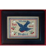 Red White and Bluebird cross stitch chart The N... - $7.00