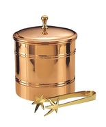 Ice Bucket Copper With Tong Bar Lined Cocktails... - $83.53