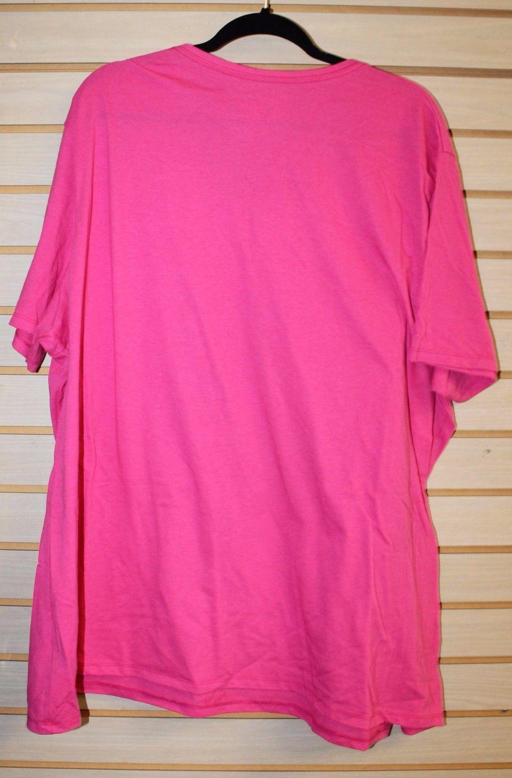 NEW WOMENS PLUS SIZE 4X 26W 28W BEAUTIFUL PINK LEOPARD TIGER VNECK TEE SHIRT TOP