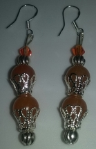 Handmade Sterling Silver Genuine Orange Aventur... - $7.50