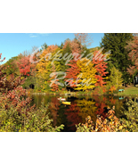 Vermont Fall Foliage River Reflection Nature 5x7 Original Landscape Photo - $9.99