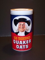 "Vintage Old Fashion Quaker Oats Cookie Jar 9 1/2"" X 6"" Regal China. - $40.00"