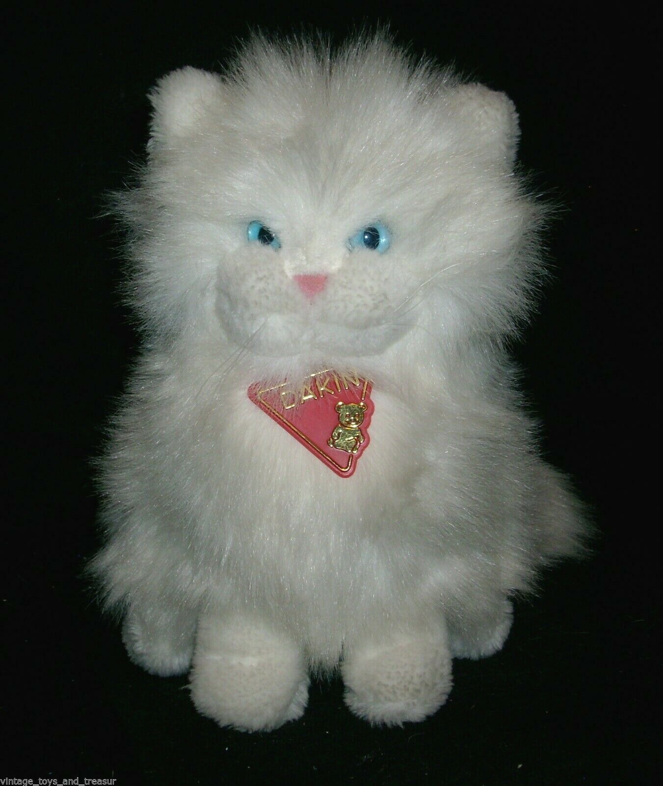 "Primary image for 10"" VINTAGE 1983 DAKIN PRINCESS PERSIAN WHITE KITTY CAT STUFFED ANIMAL PLUSH TOY"