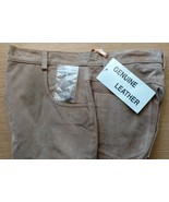 Genuine Suede Leather Jeans 5-Pocket Jean Styling Size M/8 NEW Never WORN - $45.99