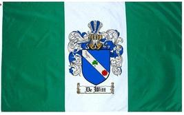 De Witt Family Crest / Coat of Arms Flag - $29.99