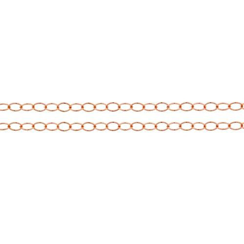 Primary image for Chains, Cable Chain, 14Kt Rose Gold Filled, 2.8x2mm, Pkg Of 5ft (10362-5)/1