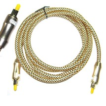 15M Optical Digital Cable Spdif Lead High Quality 5mm Thick & 24K Gold - $26.06